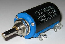 10 kOhm Wirewound 10 Turn 2 Watt Linear Adjustable Panel Mount Resistor 3600 deg