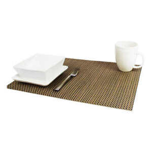 """Nouvelle Legende, 12 Ct - Indoor Outdoor PVC Coated Woven Placemats 13""""x18"""""""