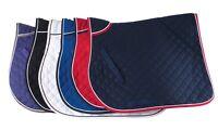 Rhinegold Twin Rope Bound Saddle Cloth Full size Red, Navy, White & Black