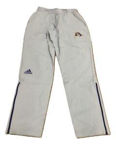 Adidas NCAA ECU Men's Tappered Zip-Bottom Woven Pant Gray,Purple