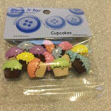Dress It Up Buttons: Cupcakes  #4618 Apx 14 Pcs