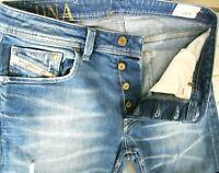 *HOT Men DIESEL @ LARKEE 880R STRAIGHT DISTRESS STRETCH Jeans 32 x34 (Fit 31x35)