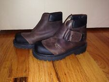 ASTER FRANCE LEATHER BROWN KIDS BOY YOUTH BOOTS SHOES SIZE 10-10.5 (EU28)