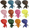 Paisley Motorcycle Skull Cap Doo Rag Bandana Hair Wrap Hat Chemo Bald Head Cover