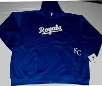 Kansas City Royals Full Zip Hoodie Therma Base Delay Plus Size Double Logo MLB