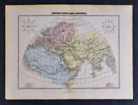 1877 Migeon Atlas Map - Ancient World - Europe Asia Africa Rome Greece Egypt