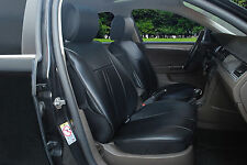 pair 2 front car seat covers cushion Black leather like 209E for Honda