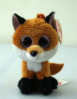 "3.2"" TY0101 Beanie Boos Key Chain Key Clip Animal Plush Stuffed Toys Slick Fox"