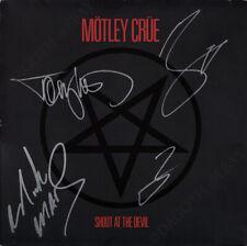 MOTLEY CRUE Shout at the Devil FULLY SIGNED Vinyl LP Mick Mars Neil +2 AUTOGRAPH