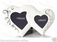 "MIKASA LOVE STORY 11 1/2"" PORCELAIN PHOTO FRAME, VALENTINE, CHRISTENING, WEDDING"