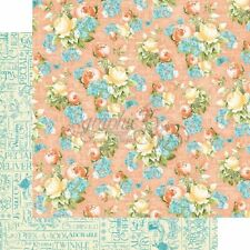 Graphic 45 2 sheets Precious Memories collection Baby's breath, double sided