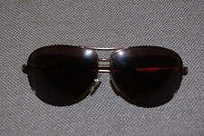 Dolce & Gabbana Mens Oval Aviator Sunglasses, Matte Bronze w/Brown crystal