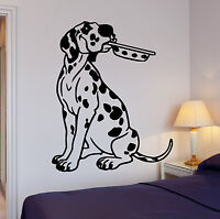 Wall Stickers Kitchen Dalmatian Puppy Dog Pet Bowl Vinyl Decal (ig1421)
