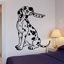 Wall Stickers Kitchen Dalmatian Puppy Dog Pet Bowl Vinyl Decal (ig1421)