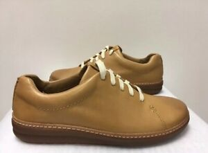 New - Women's Clarks Amberlee Crest Light Tan Leather Lace Up Shoes Size 10