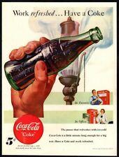 1948 COCA-COLA Soda - Vending Machine - Factory - Office - Coke VINTAGE AD