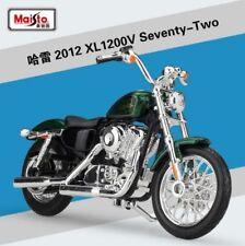 1:18 Maisto Harley Davidson 2012 XL1200V Seventy-Two Bike Motorcycle Green