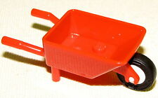 LEGO NEW RED WHEELBARROW MINFIG UTENSIL RED GARDEN TOOL