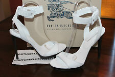 BURBERRY  ALDERNEY HEELS OFF WHITE #8us $575