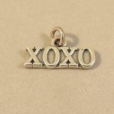 .925 Sterling Silver XOXO CHARM Hugs Kisses Love Valentine Pendant NEW 925 SY09