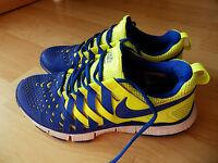 Nike Free Trainer 5.0 Gr. 42 UK 7,5 US 8,5 blau neongelb Sneakers Turnschuhe