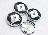 4Pcs 60mm Car Parts Wheel Center Hub Caps Badge Rim Dust Cover Logo for Renault