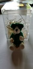 "LITTLE GEM 3"" GREEN HOLIDAY TEDDY BEAR NIB"