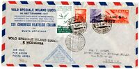 BUSTA ITALIA PRIMO VOLO SPECIALE MILANO-LUCCA 1947 ITALY FIRST FLIGHT COVER