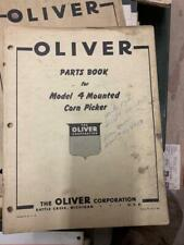 Oliver Parts Book For Model 4 Mounted Corn Picker