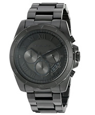NEW Michael Kors Brecken Black Ion Plated IP MK8482 Chronograph Mens Watch