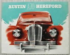 AUSTIN A70 HEREFORD Car Sales Brochure c1954 #765