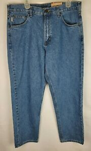 Carhartt Mens Size 36x30 Blue Denim Relaxed Fit Tapered Leg Jeans NWT