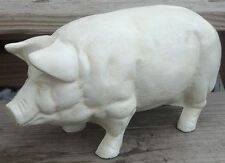 White Pig Large Cast Iron Cabin Lodge Home Garage Man Cave Farm Barn Shed Decor