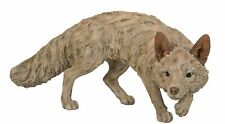 Vivid Arts Large Wood Life Prowling Fox   Highly Detailed Home or Garden Deco...