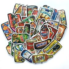Snack Food Brand Spoof Sticker Pack Lot, PVC Vinyl, Funny Humor Decal Skateboard