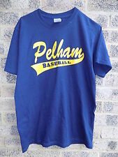 vintage retro blue & yellow Pelham Baseball t-shirt american sports tee Size M