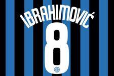 Ibrahimovic #9 Inter Milan 2006-2007 Home Football Nameset for shirt