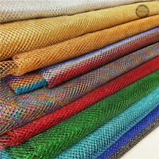 Metallic StretchNet Mesh Lurex FabricEmbroidered Glitter Bags Craft 150cm Wide