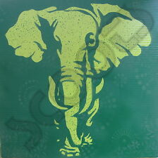 """SCOOTS Banksy Style """"Elephant"""" Recycled Vinyl Billboard Canvas Painting 24""""X24"""""""