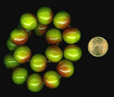 20 Vintage Cotton Pearls From Japan Sour Apple & Umber 13-15mm Final Markdown