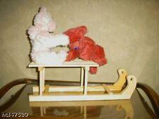 Teddy Puppen Schlitten Holz TOP-Preis neu 50cm