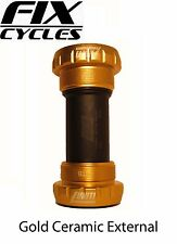 Uniti External XT Hollow Tech 2 Ceramic Bottom Bracket MTB Shimano Bb24 English Gold