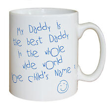 Personalised Best Daddy in the World Mug Gifts for Dads Fathers Day Presents