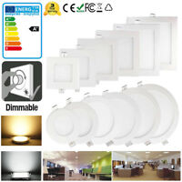 Dimmable 6W 9W 12W 15W 18W 21W LED Ceiling Recessed Panel Light Down Flat Light