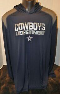 Mens Dallas Cowboys Fanatics Branded Navy1st Sprint Transitional Pullover Hoodie