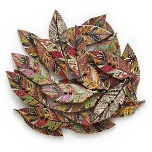 30pcs Indian Theme Wood buttons for Sewing Scrapbook Handmade Crafts Decor