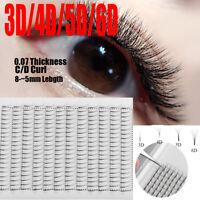 SKONHED 12 Lines Premade Russian Volume Fan Lashes 3D/4D/5D/6D Mink Eyelashes ~