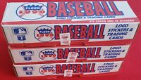 Three 1990 Fleer Baseball Complete Factory Sets - 672 Cards And 45 Stickers Each
