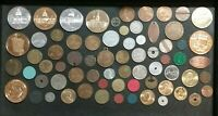JUNK DRAWER Tokens Lot 65+ Different Transit Cars Elongated Tax Phone Capitols