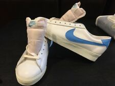 NEW Vintage RARE 1980 80's Mens Nike Wimbledon BABYBLUE/WHITE DEADSTOCK 8.5 WOW